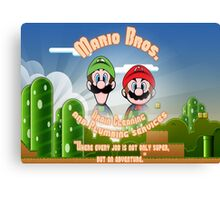 Mario Bros. Drain Cleaning & Plumbing Service Canvas Print