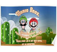 Mario Bros. Drain Cleaning & Plumbing Service Poster
