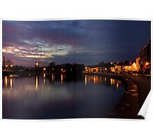 Exeter Quay at Dusk  Poster