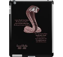 Carrol Shelby Memorial (Alternate Quote) iPad Case/Skin