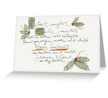 Silent Night (card) Greeting Card