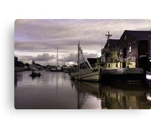 Exeter Canal Basin  Canvas Print