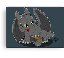 Toothless' new Tail Canvas Print