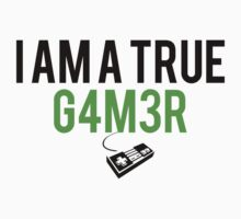 "InsaneDashie | ""I AM A TRUE G4M3R"" Kids Clothes"