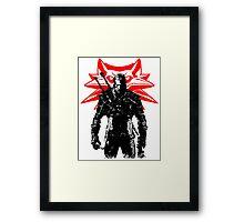 The White wolf Framed Print
