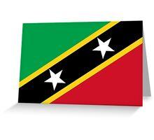 Flag of Saint Kitts & Nevis  Greeting Card