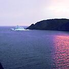 Iceberg at mouth of the Harbour at Sunset by Yukondick