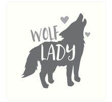 Wolf Lady Art Print