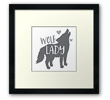 Wolf Lady Framed Print