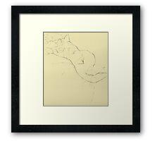 Figure Study Framed Print