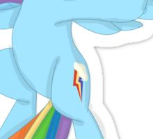 Rainbow Dashing Sticker