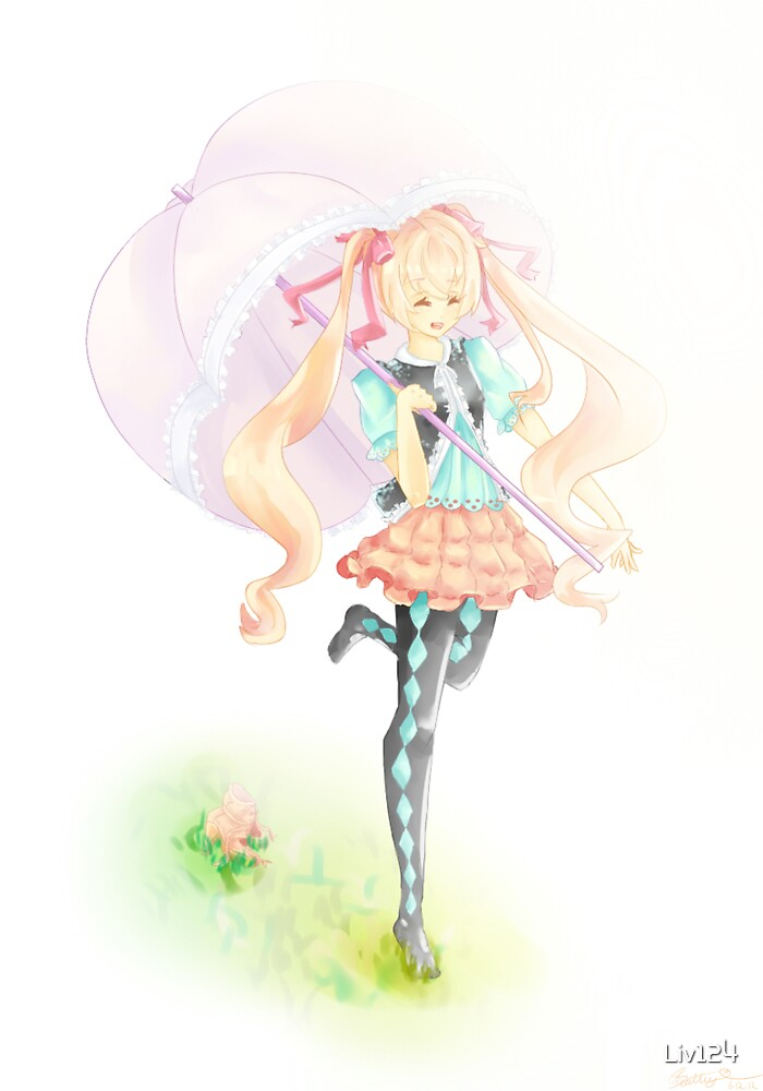 Who needs shoes when you have an umbrella :P by Liv124