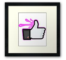 FACEBOOK X GHOSTBUSTERS (GB2 SLIMED) Framed Print