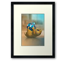I just found a funny toy! Framed Print