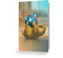 I just found a funny toy! Greeting Card