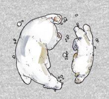 Polar Bear and Cub, taking a swim. Kids Clothes