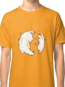 Polar Bear and Cub, taking a swim. Classic T-Shirt
