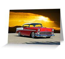 1956 Chevrolet Bel Air Greeting Card