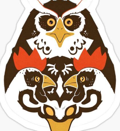 TriForce Animals Sticker