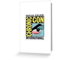 High Gear International Chronic Con - HGICC - White iCASES Greeting Card