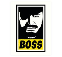 Obey the Boss Art Print