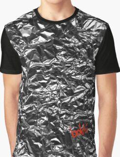 Metallic Silver Graphic T-Shirt