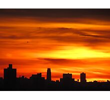Sundown in New York City Photographic Print