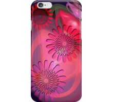 Flowers on Pink and Purple iPhone Case/Skin