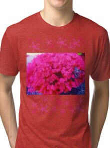 Fuschia bush Tri-blend T-Shirt