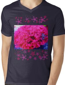 Fuschia bush Mens V-Neck T-Shirt