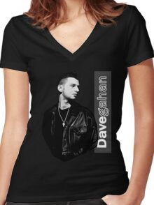 Dave Gahan 1990 Women's Fitted V-Neck T-Shirt