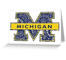 Mich Doodle Greeting Card