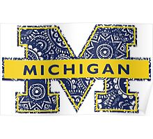Mich Doodle Poster