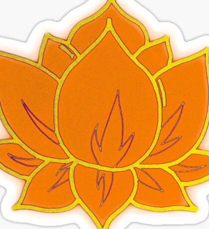 Orange Lotus Flower Sticker