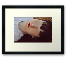 wall of emptiness Framed Print