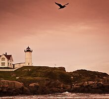 Nubble Light by Don  Powers
