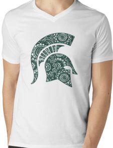 Michigan State Doodle Mens V-Neck T-Shirt