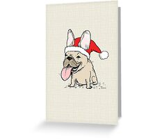 Frenchie Clause French Bulldog Greeting Card