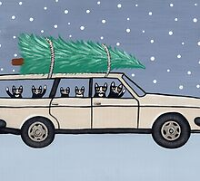 Christmas Tree Cats by Ryan Conners