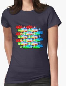 RGB Fish [rainbow meatball] Womens Fitted T-Shirt