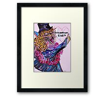 Broadway BABY CAT Framed Print