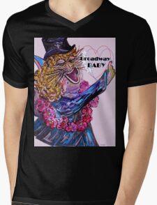 Broadway BABY CAT Mens V-Neck T-Shirt