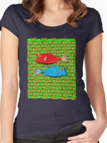 red fish - blue fish Women's Fitted Scoop T-Shirt