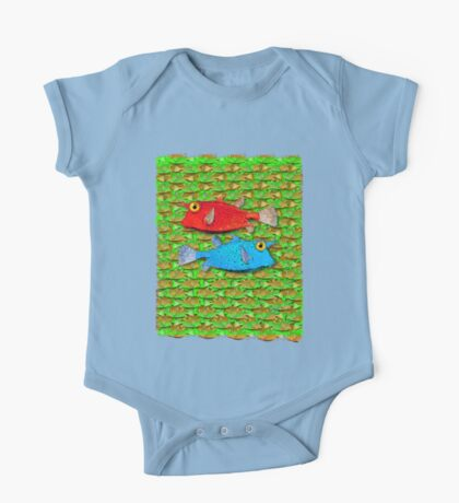 red fish - blue fish One Piece - Short Sleeve