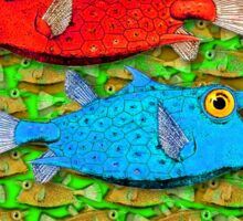red fish - blue fish Sticker