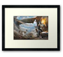 Fallout sky war Framed Print