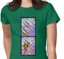 space ship invasion - jetpack squadron Womens Fitted T-Shirt
