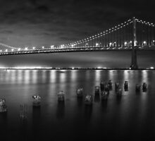 San Francisco Bay Bridge at Night by fototaker