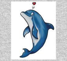 Bottlenose Dolphin Love One Piece - Short Sleeve