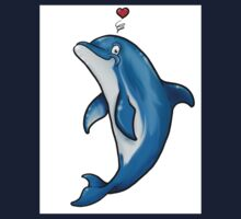 Bottlenose Dolphin Love Kids Tee